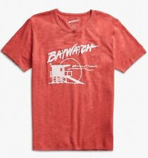 LUCKY BRAND Men's Baywatch Graphic Short Sleeve Red Cotton T Shirt Large New