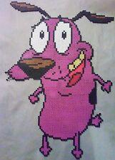 Courage the cowardly dog kandi perler necklace rave EDC PLUR hama art bead