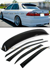 FOR 98-2002 6TH HONDA ACCORD SEDAN JDM SMOKE REAR ROOF WINDOW + DOOR VISOR COMBO