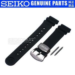 Seiko Black 22-mm Silicone Watch Band SRP777 SRP779 SRPB11 SRPB53 SRPB97 SRPC91