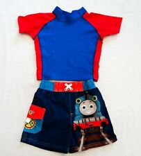 Excellent Thomas The Train SwimsuitWith Rash Guard Size 12M Bottom, 18M Top!