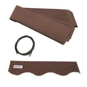 ALEKO Fabric Replacement 16X10 Feet For Retractable Awning Brown Color