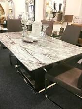 Black White Grey Donatella Marble Rectangular Dining Table 180cms