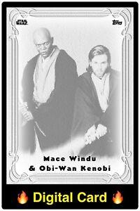 🔥DIGITAL🔥Topps STAR WARS Trader KENOBI + WINDU SR 250cc GALAXY NOUVEAU Card