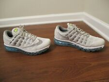 Used Worn Size 10 Nike iD Air Max 2016 Shoes Platinum Gray Crystal Blue Silver