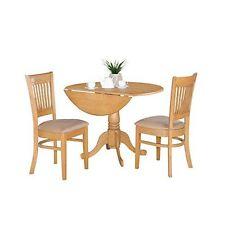 East West Furniture Dlva3 Oak C 3pc Kitchen Nook Dining Table Set Oak Finish