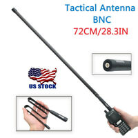 ABBREE 28.3IN BNC Foldable CS Tactical Antenna For ICOM Kenwood Two Way Radio US