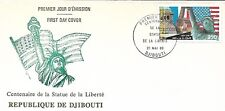 DJIBOUTI 1986 FIRST DAY COVER STATUE OF LIBERTY