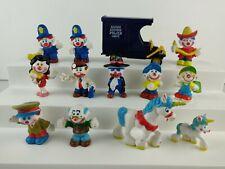 Lot 12 Vintage Mego Clown Around Pvc Figurines Figures Police Paddy Wagon 1981🤡