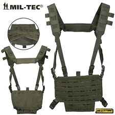 Gilet Tattico MILTEC Combat Tactical Vest Carrier Chest Rig MOLLE Softair Green