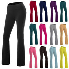 Womens High Waist Running Trousers Wide Leg Flared Slim Yoga Pants Leggings AS