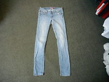 """And & Fit Sqin Jeans Waist 29"""" Leg 34"""" Faded Light Blue Ladies Jeans"""