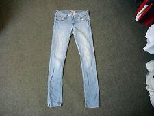 """Und & FIT SQIN Jeans Taille 29"""" Bein 34"""" ausgewaschenes Hellblau Damen Jeans"""