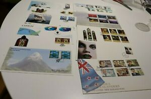 1995 NEW ZEALAND NZ FDC COVERS x11 DEFINITIVES,UN,PEAK,SCENIC,CHRISTMAS,ROSS DEP
