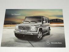 MERCEDES-BENZ classe G brochure catalogue souple - édition 06/2010