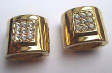 boucles d'oreilles clips aimant bijou couleur or rhodié cristaux diamant  2160