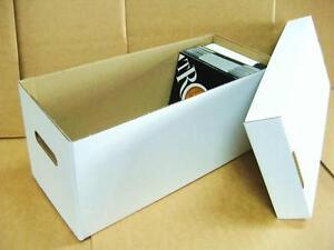 "1 x 7"" Vinyl Record Storage Cardboard Archive Box - Hold 200-220 Singles"