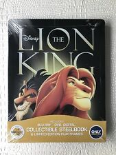 The Lion King (Blu-ray/DVD, 2017, Steelbook Limited Edition) Brand New, Sealed