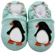 Littleoneshoes Soft Sole Leather Baby PenguinBlue Shoes 12-18M