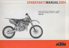 2004 KTM MOTORCYCLE 105 SX CHASSIS & ENGINE SPARE PARTS MANUAL (893)
