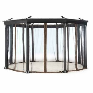 Universal Mosquito Netting for Curtain for Round Ontario  Gazebo