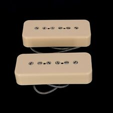 Lindy Fralin Stock P-90 Hum Cancelling Soapbar Pickup Set -  CREAM  COVERS