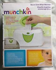 Munchkin Warm Glow Wipe Warmer New In Box White and Green