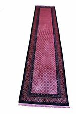 2x11 Chinese Deco Runner Overdyed Hot Pink 100% Wool Pile OOAK Hallway Rug 2900