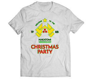 Die Hard Christmas Party Nakatomi Plaza 80's Action Movie Funny Mens T Shirt