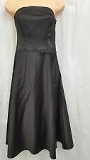 MARKS AND SPENCER M&S ** SIZE UK 8 ** BLACK SATIN CORSET COCKTAIL DRESS