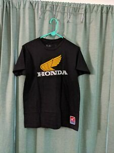 Troy Lee Designs Retro Wing Men's Tee Shirt Honda Black/White/Gold Size Medium
