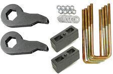 """Lift Kit Chevy Forged Torsion Keys Rear 2"""" Cast Steel Blocks 1992-99 4x4 8 Lug"""
