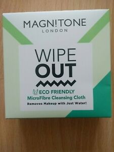 BNIB Magnitone London Wipe Out TEco Friendly Microfibre Cleansing Cloth Grey