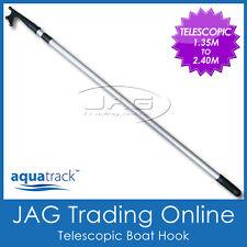 AQUATRACK TELESCOPIC 1.35M-2.40M BOAT MOORING HOOK - Marine Grade Aluminium Tube