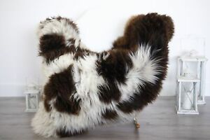 Real Natural English SHEEPSKIN RUG Fur Throw Genuine Sheep Skin White #1sheb9