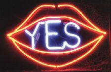 "New Red Lips Yes Open Love Bar Neon Light Sign 17""x14"""