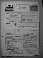 ITT/Schaub Lorenz Golf europa 105 Service Manual