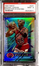 Gorgeous 1994 Finest Refractor Card W/ Coating Michael Jordan #331 PSA 9 Mint