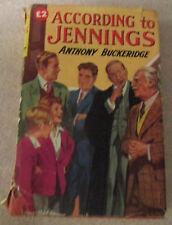 According To Jennings by Anthony Buckeridge, 1959 Hardback published by Collins