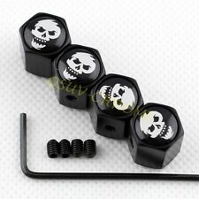 Car Antithef Air Dust Cap Wheel Tire Valve Stem FOR Caribbean Pirate Skull Head