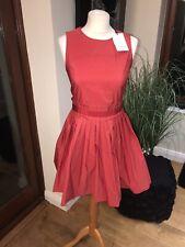 Tara Jarmon Rouge Red Fit And Flare Dress Sz It 38 Bnwt