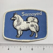 Vintage  Dog Pet Breed Samoyed  Sew-On Patch . Show Label