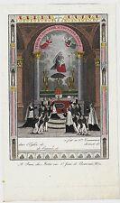 1820ca PRIMA COMUNIONE souvenir acquaforte holy card first première communion