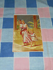 Old Tradecard Buy Garland Stoves and Ranges  Woman Child Corner Crease