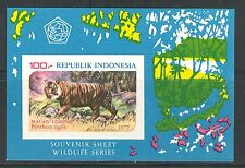 LARGE WILD CATS: TIGER ON INDONESIA 1977 Scott 1016a, IMPERFORATE, MNH