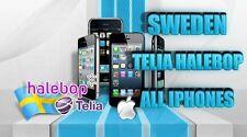 SUPER FAST UNLOCKING Telia Sweden iPhone X 8 7+ 7 SE 6S+ 6S 6 5S Factory Unlock