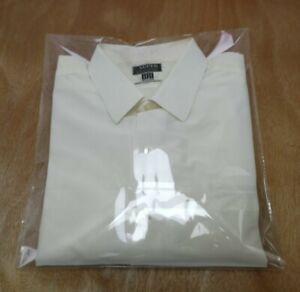 """Vintage Bri Nylon Super Classic Ivory white Men's Shirt 16"""" Collar"""