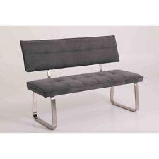 Bank Sitzbank Esszimmer Speisezimmer 140 cm Metallkufen NENA grau Rückenlehne