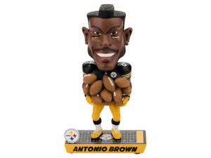 Antonio Brown Pittsburgh Steelers Caricature Bobblehead Forever Collectibles NFL