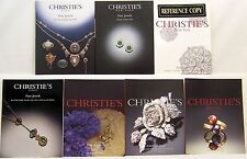 Lot of 7 Christie's Fine Jewels/ Fine Jewels and Silver Auction Catalogs 112